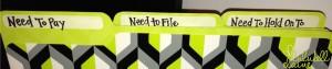 Bill Pay Station File Folders