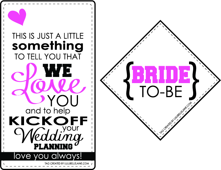 Bride-To-Be Gift Tag