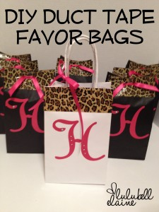 DIY Duct Tape Bachelorette Party Favor Bags