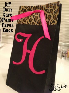 DIY Duct Tape Party Favor