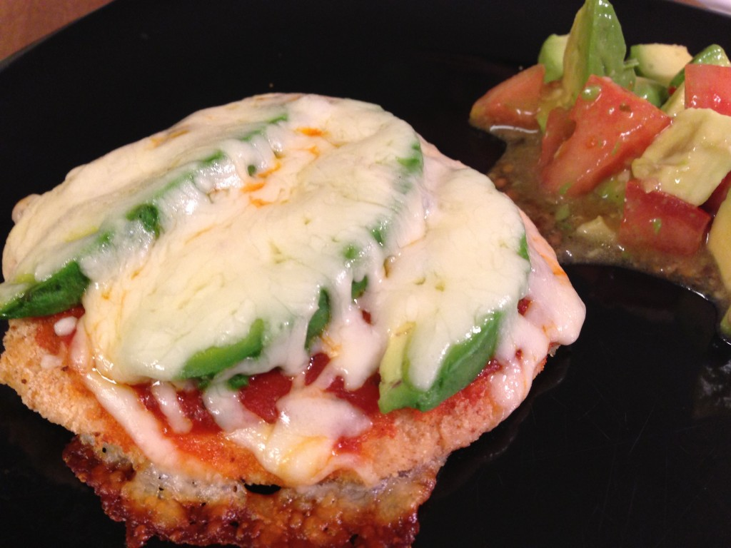 Avocado Chicken Parmigiana and Tomato-Avocado Salad