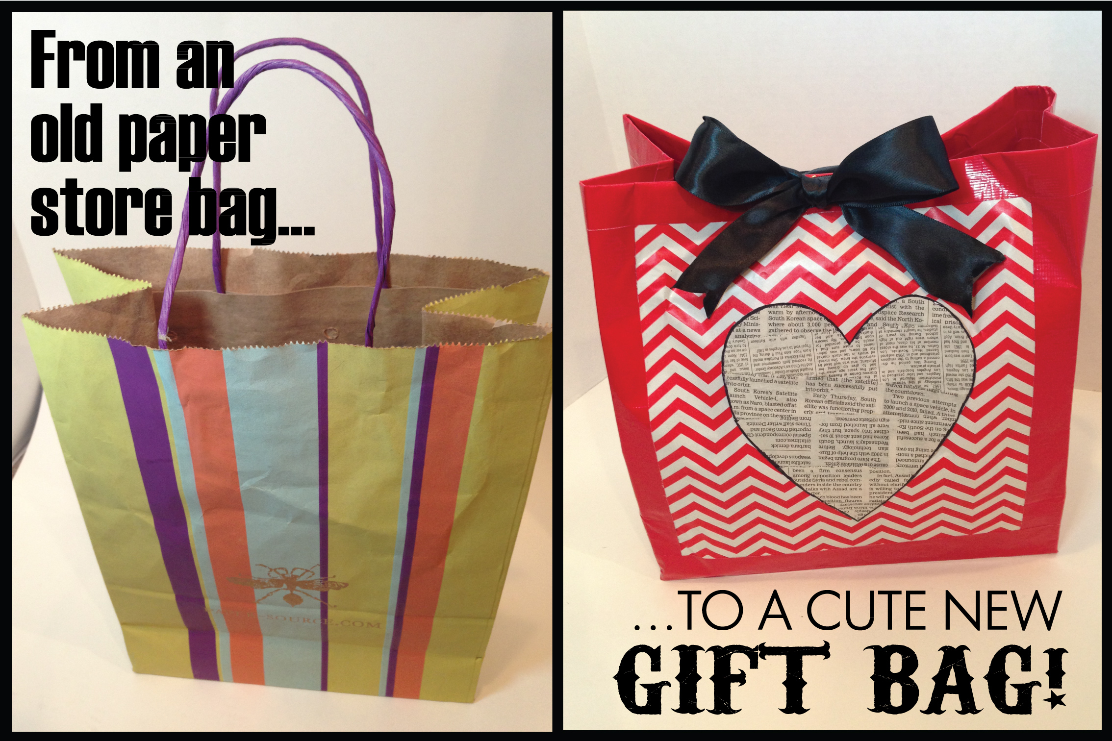Upcycling old store bags into cute gift lulubell elaine