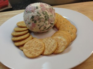 Ham and Green Onion Cream Cheese Ball