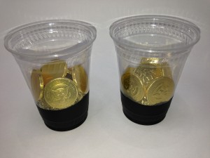 Like A Pot O Gold - Gold Chocolate Coins In Plastic Cup