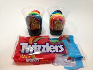 Like A Pot O Gold - Gold Chocolate Coins and Rainbow Twizzlers