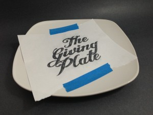 The Giving Plate Transfer Taped