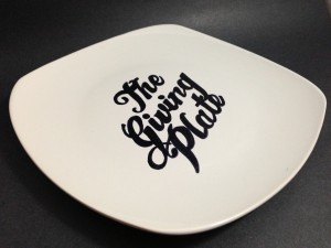 The Giving Plate with permanent marker