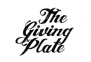The Giving Plate Lettering