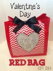 Valentine's Day Red Bag Gift Idea