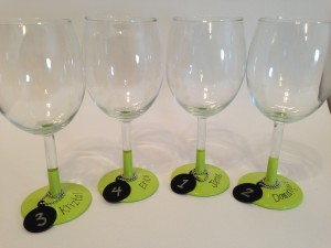 Wine Glass Place Cards and Party Favors