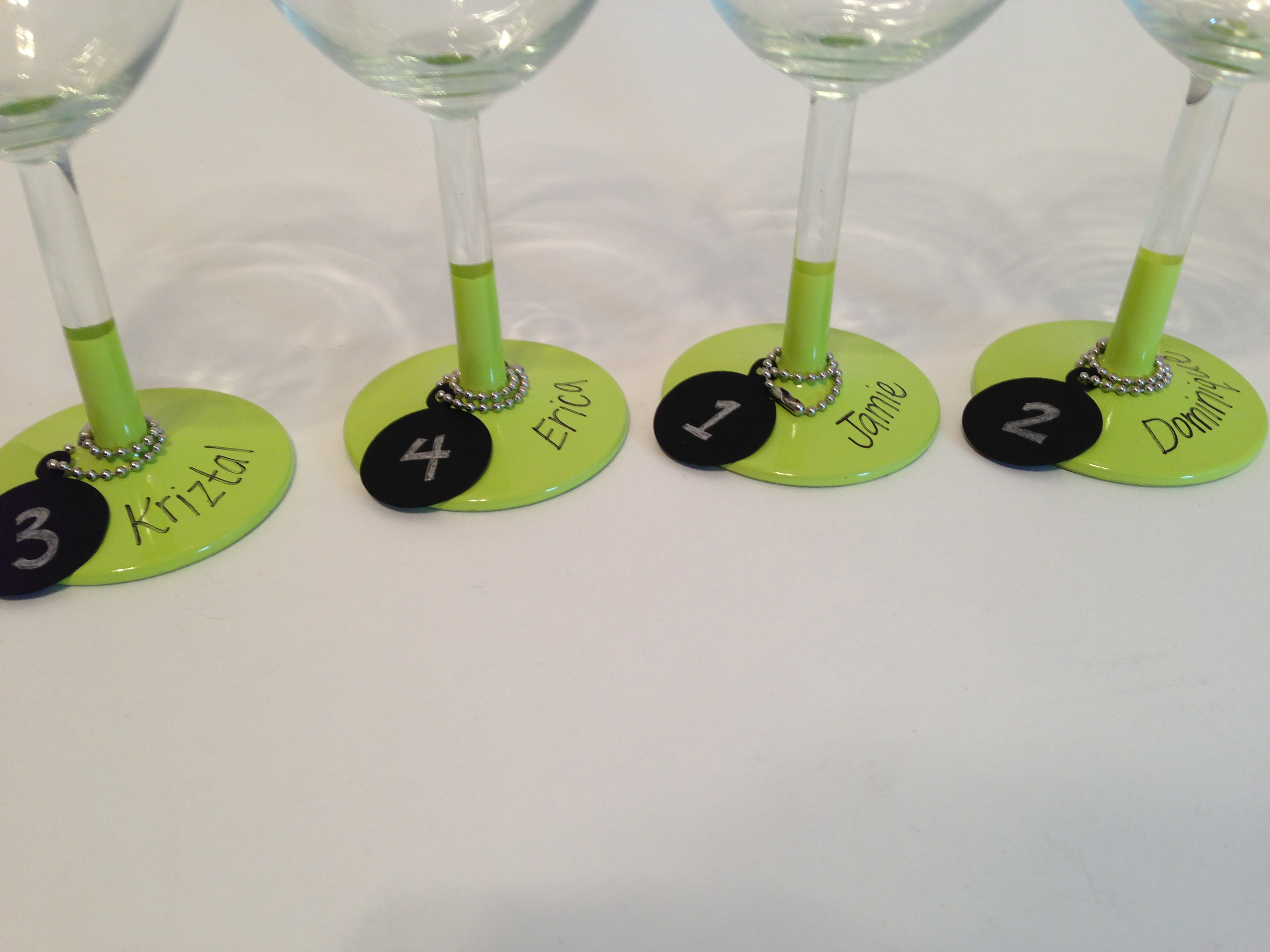 Wine Glass Table Numbers Table Numbers · Wine Glass