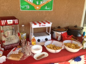 Baseball Party -Snack Bar Setup
