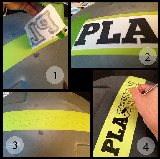 Organizing and Sorting Recyclables - Labeling Lids