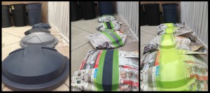 Organizing and Sorting Recyclables - Painting Stripes on Lids